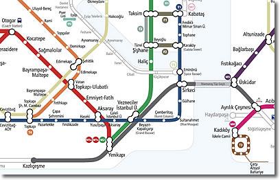 Istanbul Rail Network Map
