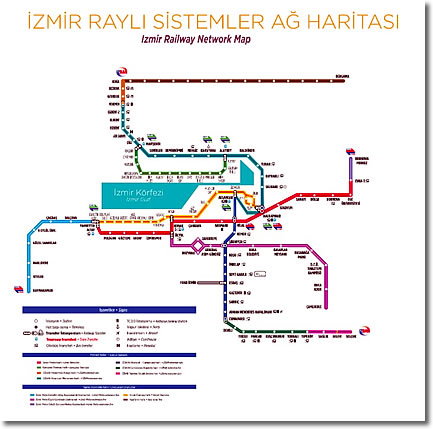 Izmir Rail Transport Map, Izmir, Turkey