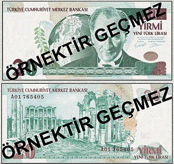 New Turkish Lira notes (bills)