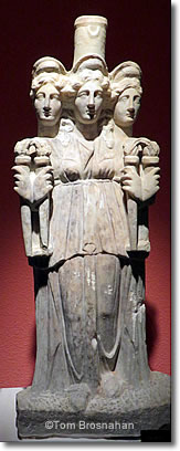 Three-headed Roman statue, Antalya Museum, Turkey