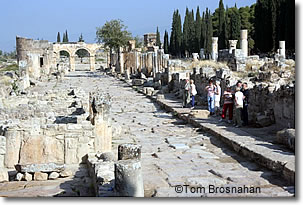 Colonnaded Street, Hierapolis, Pamukkale, Denizli, Turkey