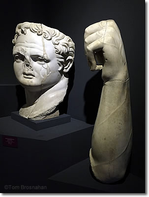 Head & Arm of Emperor Domitian, Ephesus Museum, Selçuk, Aegean Turkey