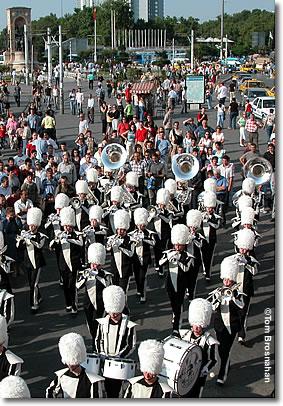 Marching band, Istiklal Caddesi, Istanbul, Turkey