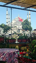 Blue Mosque from Sultan's Inn, Istanbul, Turkey