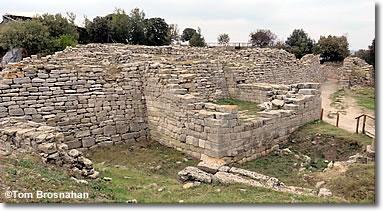 East wall of Troy (Truva), Turkey
