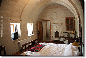 Hillside Suite bedroom, Esbelli Evi, Urgup, Cappadocia, Turkey